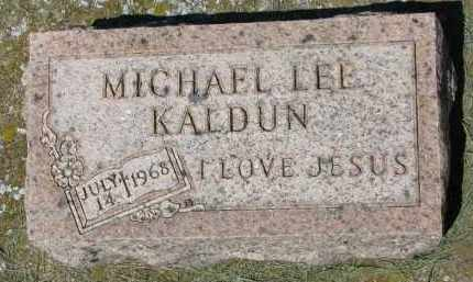 KALDUN, MICHAEL LEE - Clay County, South Dakota | MICHAEL LEE KALDUN - South Dakota Gravestone Photos