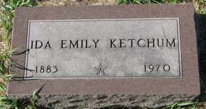KETCHUM, IDA EMILY - Clay County, South Dakota   IDA EMILY KETCHUM - South Dakota Gravestone Photos