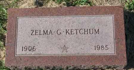 KETCHUM, ZELMA G. - Clay County, South Dakota   ZELMA G. KETCHUM - South Dakota Gravestone Photos