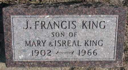 KING, J. FRANCIS - Clay County, South Dakota | J. FRANCIS KING - South Dakota Gravestone Photos