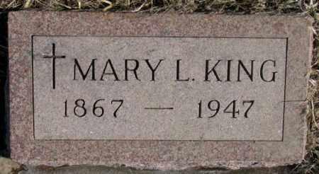 KING, MARY L. - Clay County, South Dakota | MARY L. KING - South Dakota Gravestone Photos