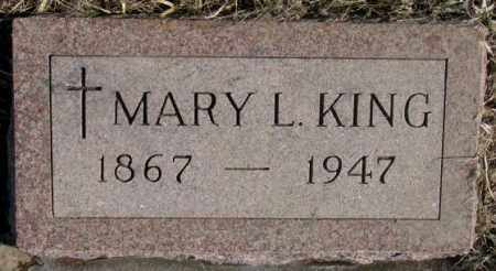 KING, MARY L. - Clay County, South Dakota   MARY L. KING - South Dakota Gravestone Photos