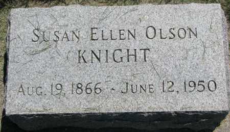OLSON KNIGHT, SUSAN ELLEN - Clay County, South Dakota   SUSAN ELLEN OLSON KNIGHT - South Dakota Gravestone Photos
