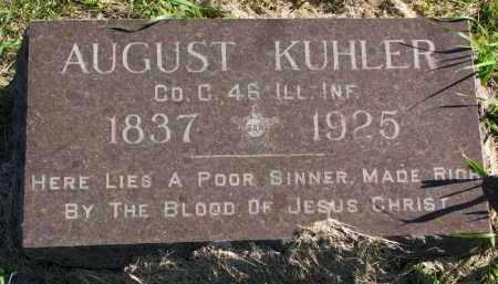 KUHLER, AUGUST - Clay County, South Dakota | AUGUST KUHLER - South Dakota Gravestone Photos