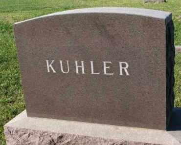 KUHLER, FAMILY STONE - Clay County, South Dakota   FAMILY STONE KUHLER - South Dakota Gravestone Photos