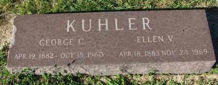 KUHLER, ELLEN V. - Clay County, South Dakota | ELLEN V. KUHLER - South Dakota Gravestone Photos