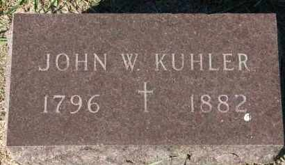 KUHLER, JOHN W. - Clay County, South Dakota | JOHN W. KUHLER - South Dakota Gravestone Photos