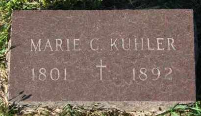 KUHLER, MARIE G. - Clay County, South Dakota | MARIE G. KUHLER - South Dakota Gravestone Photos