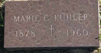 KUHLER, MARIE C. - Clay County, South Dakota | MARIE C. KUHLER - South Dakota Gravestone Photos
