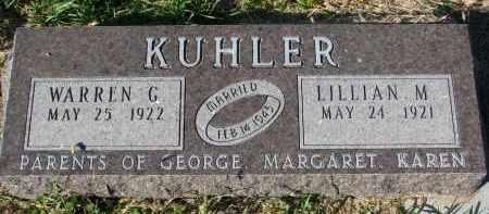 KUHLER, LILLIAN M. - Clay County, South Dakota | LILLIAN M. KUHLER - South Dakota Gravestone Photos