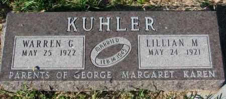 KUHLER, LILLIAN M. - Clay County, South Dakota   LILLIAN M. KUHLER - South Dakota Gravestone Photos