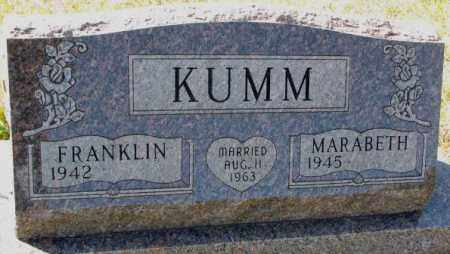 KUMM, MARABETH - Clay County, South Dakota | MARABETH KUMM - South Dakota Gravestone Photos
