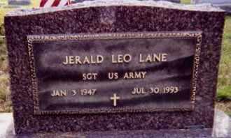 LANE, JERALD LEO (MILITARY) - Clay County, South Dakota | JERALD LEO (MILITARY) LANE - South Dakota Gravestone Photos