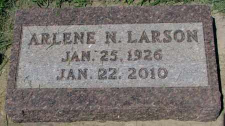 LARSON, ARLENE N. - Clay County, South Dakota   ARLENE N. LARSON - South Dakota Gravestone Photos