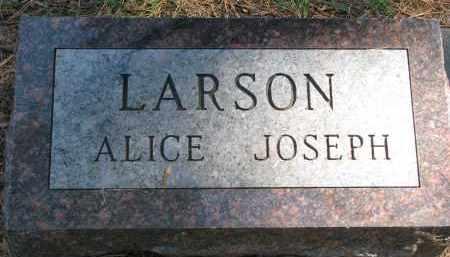 LARSON, ALICE (1 OF 2) - Clay County, South Dakota | ALICE (1 OF 2) LARSON - South Dakota Gravestone Photos