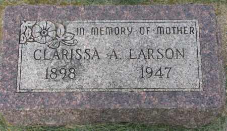 LARSON, CLARISSA A. - Clay County, South Dakota | CLARISSA A. LARSON - South Dakota Gravestone Photos