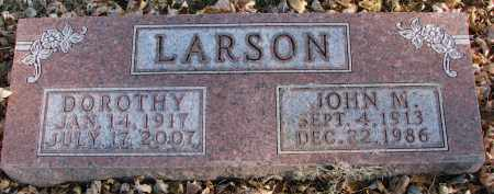 LARSON, JOHN M. - Clay County, South Dakota | JOHN M. LARSON - South Dakota Gravestone Photos