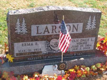 LARSON, ERMA E. - Clay County, South Dakota   ERMA E. LARSON - South Dakota Gravestone Photos
