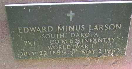 LARSON, EDWARD MINUS (WW I) - Clay County, South Dakota | EDWARD MINUS (WW I) LARSON - South Dakota Gravestone Photos
