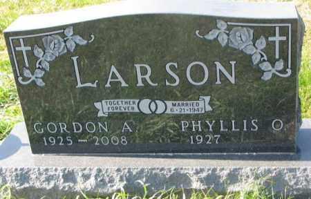 LARSON, GORDON A. - Clay County, South Dakota   GORDON A. LARSON - South Dakota Gravestone Photos
