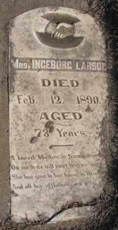 LARSON, INGEBORG, MRS. - Clay County, South Dakota | INGEBORG, MRS. LARSON - South Dakota Gravestone Photos