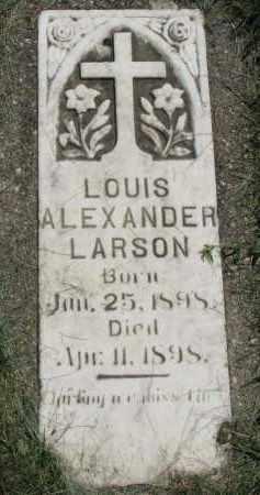 LARSON, LOUIS ALEXANDER - Clay County, South Dakota   LOUIS ALEXANDER LARSON - South Dakota Gravestone Photos