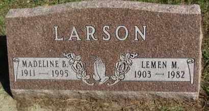 LARSON, MADELINE B. - Clay County, South Dakota   MADELINE B. LARSON - South Dakota Gravestone Photos