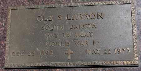 LARSON, OLE S. (WW I) - Clay County, South Dakota | OLE S. (WW I) LARSON - South Dakota Gravestone Photos
