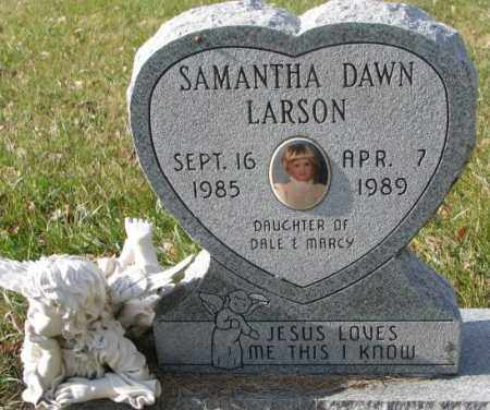 LARSON, SAMANTHA DAWN - Clay County, South Dakota | SAMANTHA DAWN LARSON - South Dakota Gravestone Photos