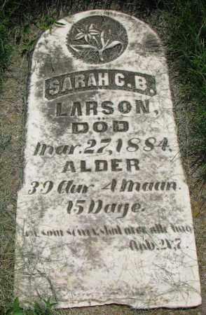 LARSON, SARAH C.B. - Clay County, South Dakota   SARAH C.B. LARSON - South Dakota Gravestone Photos