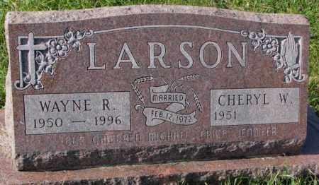 LARSON, WAYNE R. - Clay County, South Dakota | WAYNE R. LARSON - South Dakota Gravestone Photos