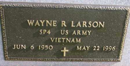 LARSON, WAYNE R. (MILITARY) - Clay County, South Dakota | WAYNE R. (MILITARY) LARSON - South Dakota Gravestone Photos