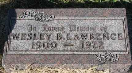 LAWRENCE, WESLEY B. - Clay County, South Dakota | WESLEY B. LAWRENCE - South Dakota Gravestone Photos