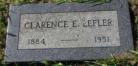 LEFLER, CLARENCE E. - Clay County, South Dakota | CLARENCE E. LEFLER - South Dakota Gravestone Photos
