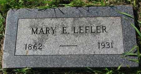 LEFLER, MARY E. - Clay County, South Dakota | MARY E. LEFLER - South Dakota Gravestone Photos