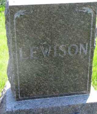 LEWISON, FAMILY STONE - Clay County, South Dakota | FAMILY STONE LEWISON - South Dakota Gravestone Photos