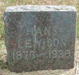 LEWISON, HANS - Clay County, South Dakota | HANS LEWISON - South Dakota Gravestone Photos