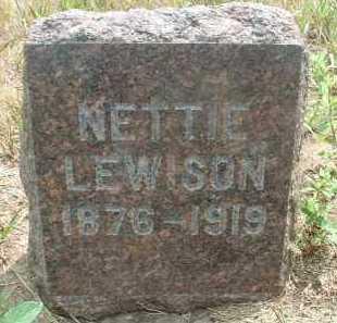 LEWISON, NETTIE - Clay County, South Dakota   NETTIE LEWISON - South Dakota Gravestone Photos