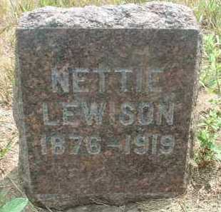 LEWISON, NETTIE - Clay County, South Dakota | NETTIE LEWISON - South Dakota Gravestone Photos