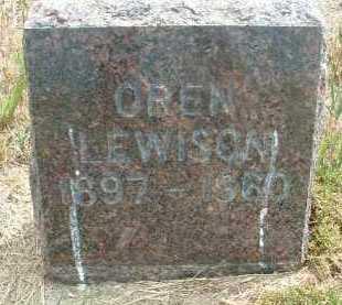LEWISON, OREN - Clay County, South Dakota   OREN LEWISON - South Dakota Gravestone Photos