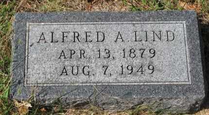 LIND, ALFRED A. - Clay County, South Dakota | ALFRED A. LIND - South Dakota Gravestone Photos