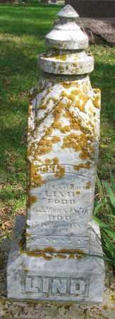 LIND, JOHN EMIL - Clay County, South Dakota | JOHN EMIL LIND - South Dakota Gravestone Photos