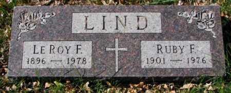LIND, LE ROY F. - Clay County, South Dakota   LE ROY F. LIND - South Dakota Gravestone Photos
