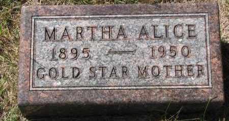 LIND, MARTHA ALICE - Clay County, South Dakota | MARTHA ALICE LIND - South Dakota Gravestone Photos