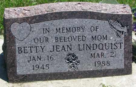 LINDQUIST, BETTY JEAN - Clay County, South Dakota | BETTY JEAN LINDQUIST - South Dakota Gravestone Photos