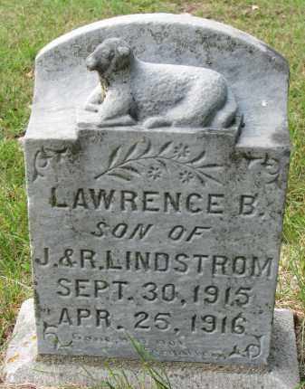LINDSTROM, LAWRENCE B. - Clay County, South Dakota | LAWRENCE B. LINDSTROM - South Dakota Gravestone Photos