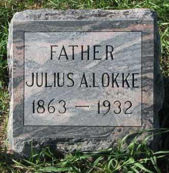LOKKE, JULIUS A. - Clay County, South Dakota   JULIUS A. LOKKE - South Dakota Gravestone Photos