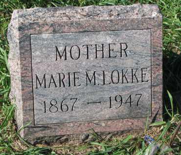 LOKKE, MARIE M. - Clay County, South Dakota | MARIE M. LOKKE - South Dakota Gravestone Photos