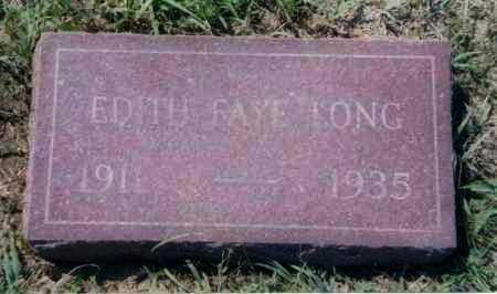 LONG, EDITH FAYE - Clay County, South Dakota   EDITH FAYE LONG - South Dakota Gravestone Photos