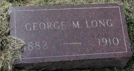 LONG, GEORGE M. - Clay County, South Dakota   GEORGE M. LONG - South Dakota Gravestone Photos